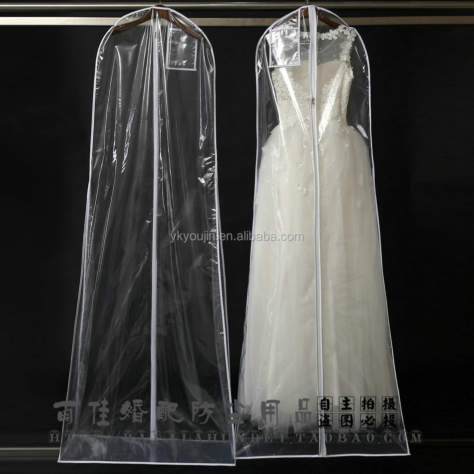clear pvc / PEVA dress cover