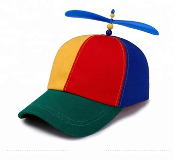 9817d0bd17e 2018 Novelties multi colored cotton party holiday beanie hats with propeller  hats in stock