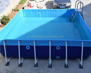 Portable Rectangular Steel Metal Frame Swimming Pool,Above Ground ...