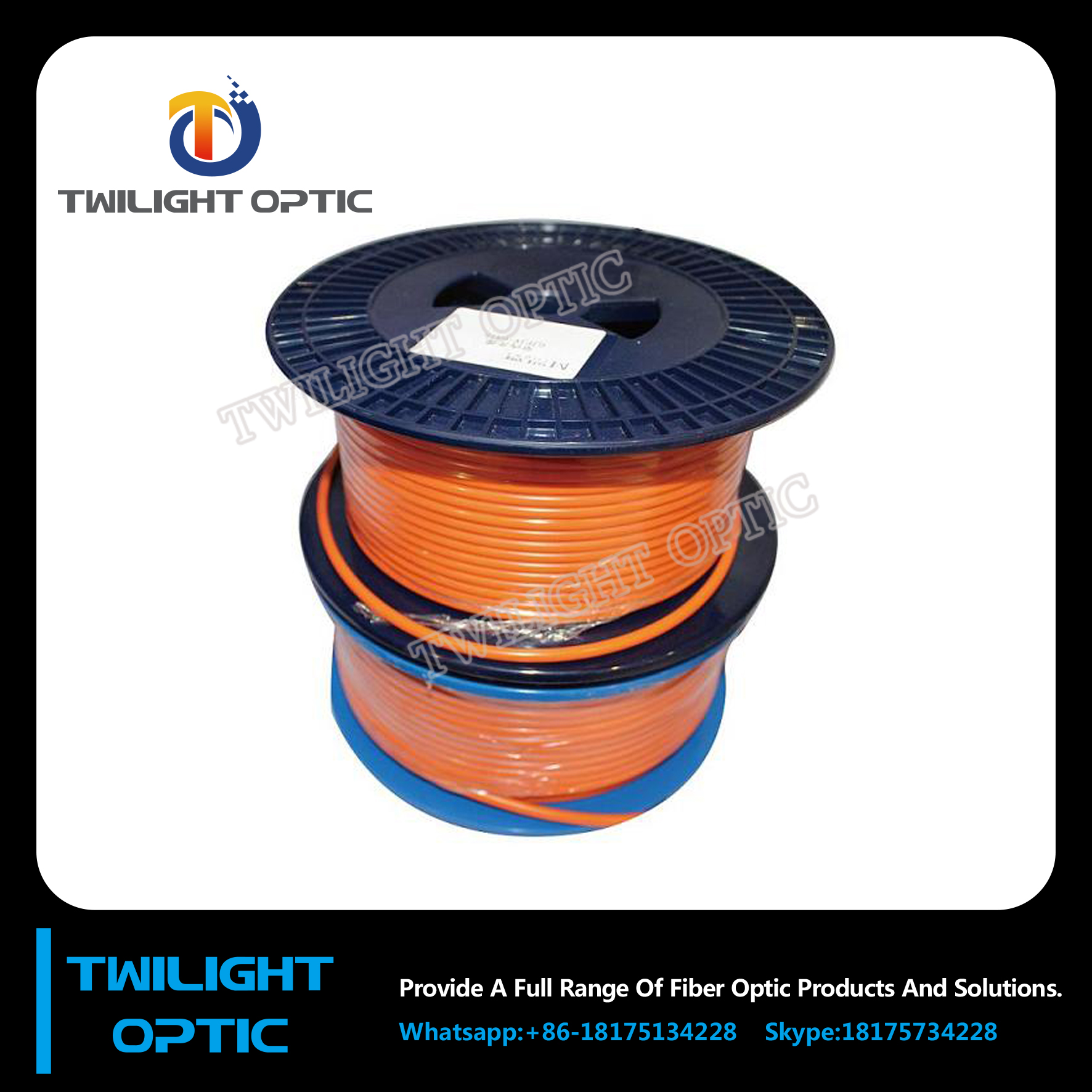 4 core multimode lose tube indoor /outdoor fiber optic cable