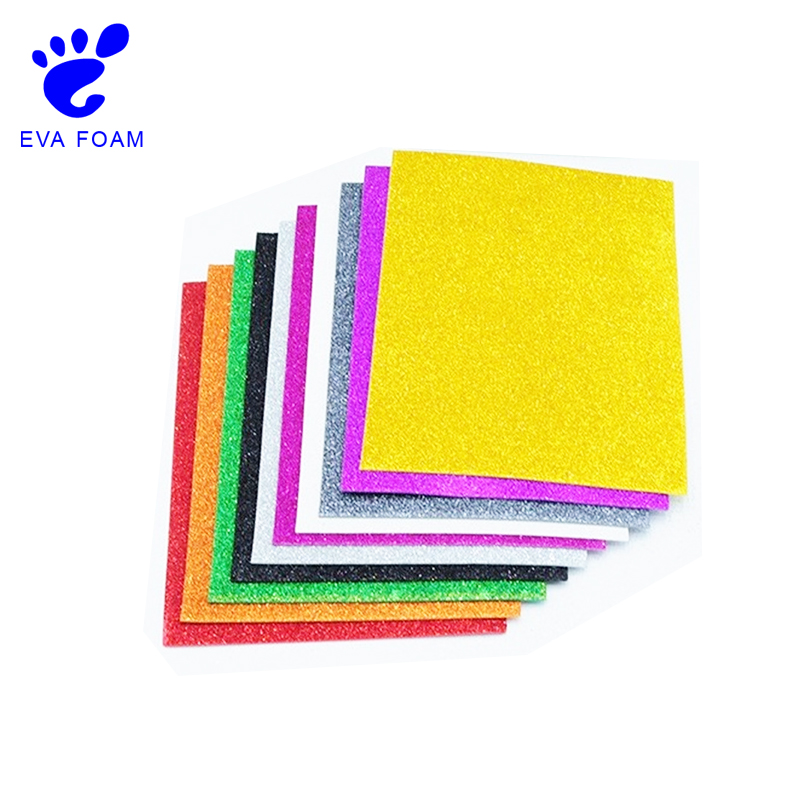 Beautiful popular glitter EVA foam sheets for arts and crafts