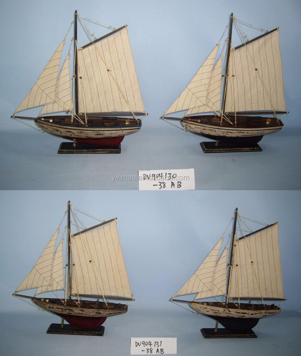 Ensemble 2 Antique Raye Finition Modele De Voilier En Bois 24x4x34cm Petit Bateau Modele 2 Mat Voile Yacht Modele Buy Ancien Modele De Bateau Maquettes Bon Marche Modele De Bateau En Bois Product On