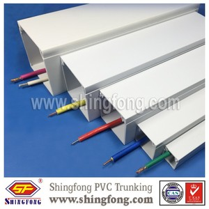 Decorative Plastic pvc electrical wiring trough on