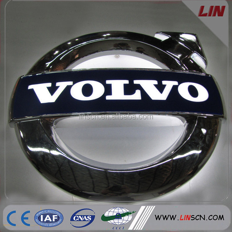 High Quality Custom Chromed Acrylic Led 3d Car Logo Signage For 4s