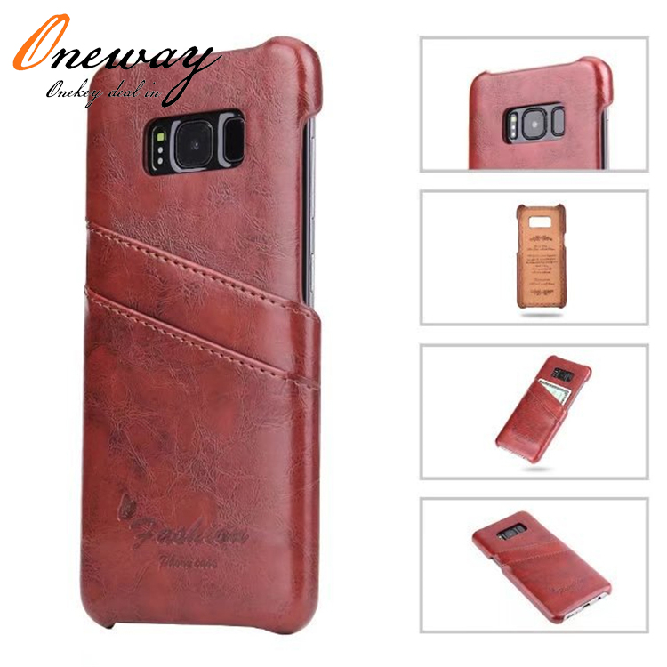 For Samsung Galaxy S8 leather case <strong>cover</strong>, leather case with card slot for Samsung Galaxy S8