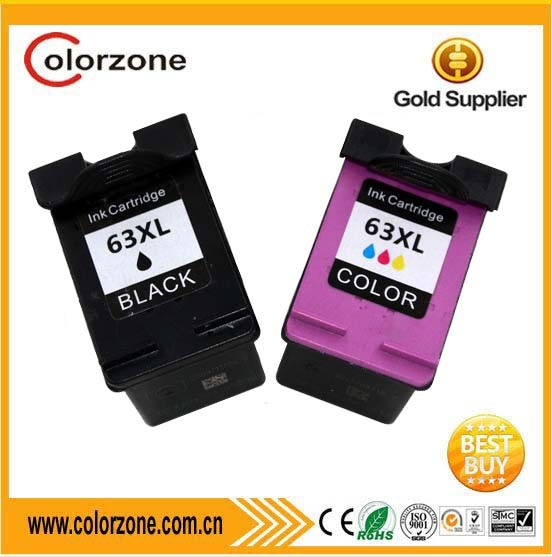 Hot high quality compatible HP 63 XL ink cartridge for DeskJet 1112 2130 3630 3632 3633 3634 3636