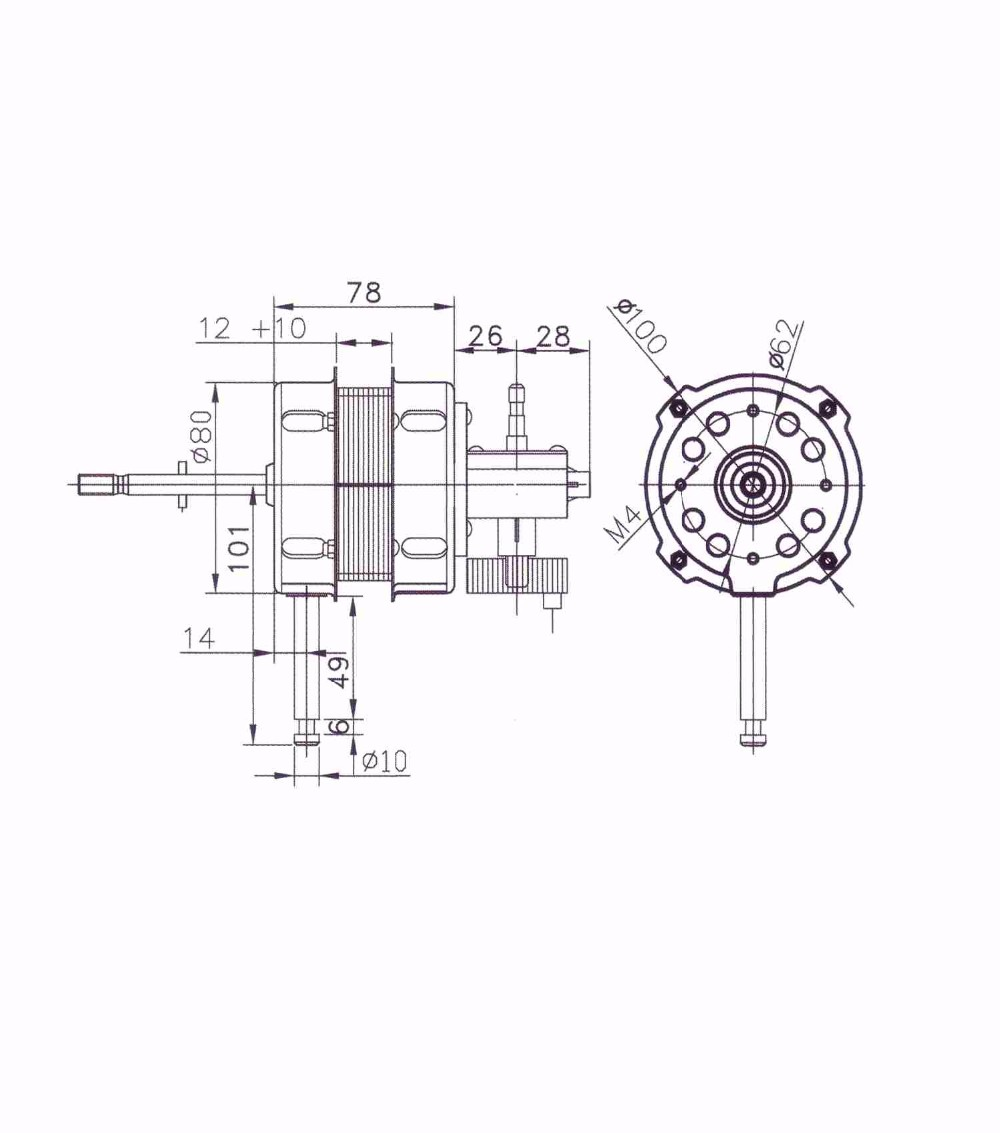 12v dc brushless powerful motor for electric fan