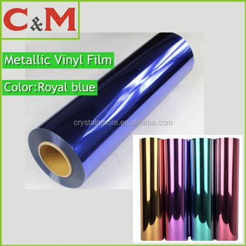 Metallic Vinyl Blue Iron On Transfer Heat Press for Custom