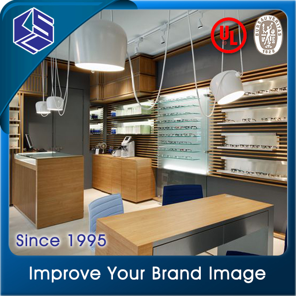 Durable quality wall mounted eyewear display stand for optical store design