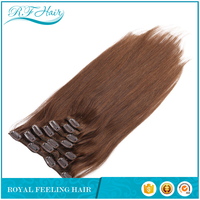 Full head Set 150g 18inch Clip In Human Hair Extension, Indian Remy wholesale thick clip in extentions