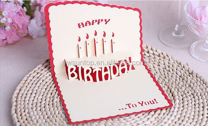 2016 Cheap Happy Birthday Card 3d Handmade Card Wholesale Buy 3d – Handmade Happy Birthday Cards