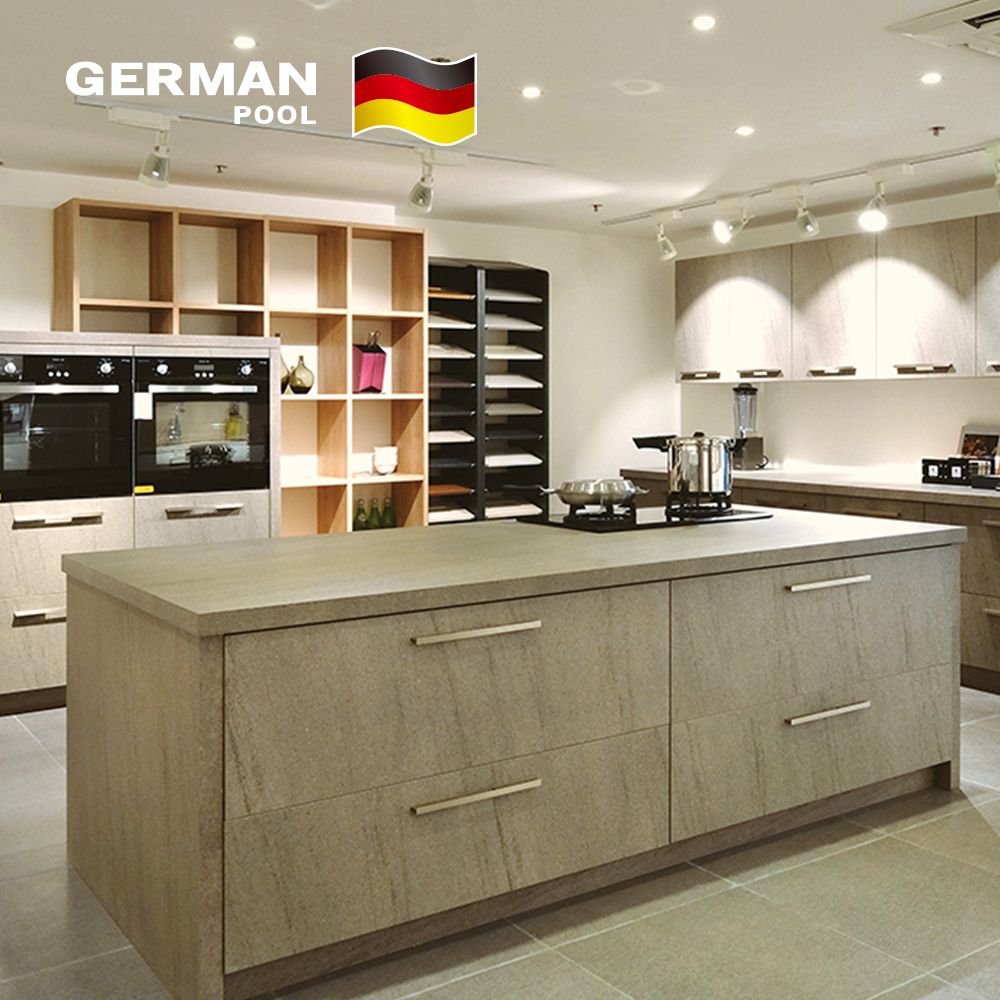 German Pool Customized Hotel Modular Storage GP20 MDF Commercial Kitchen Cabinet