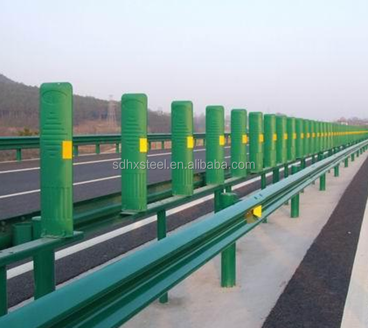 Vehicle crash barrier w beam highway guardrail dimensions vehicle guardrails
