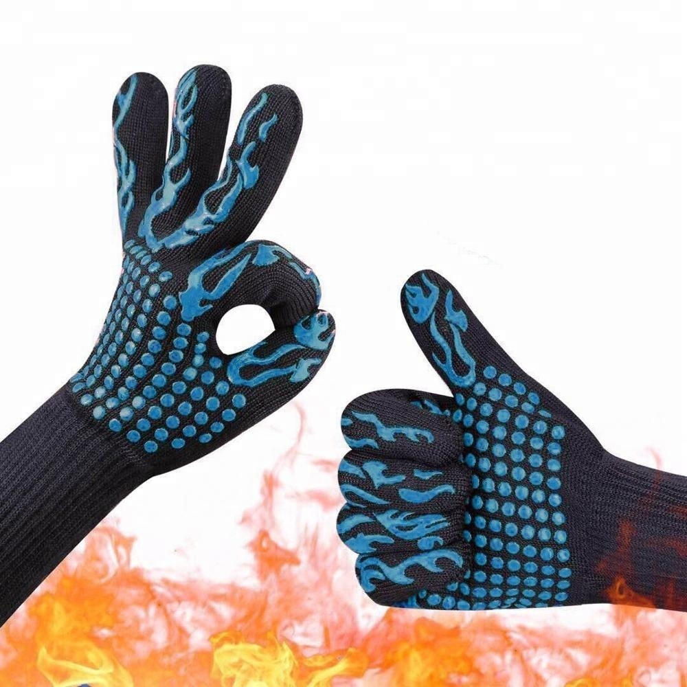 1472F BBQ Grill Gloves Elclusive Heat Resistant Oven Gloves withstand Extreme Heat