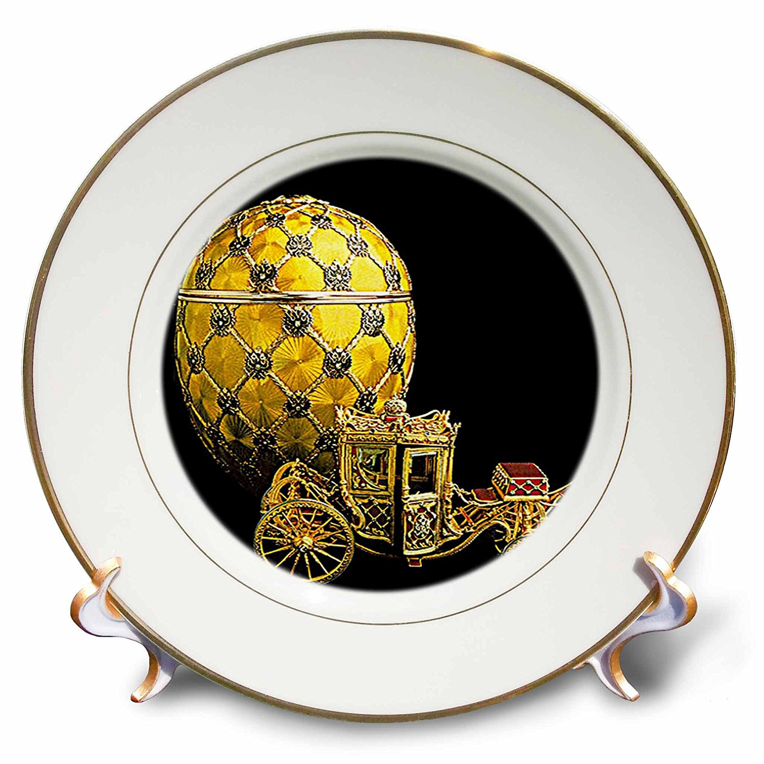 Faberge® Eggs - Picturing Faberge® Egg Coronation - 8 inch Porcelain Plate (cp_568_1)