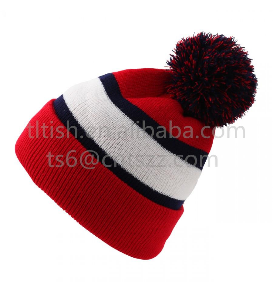 Popular Fashionable Brazil Beanie Stripe Winter Pompom Hats - Buy Brazil  Beanie 235ad91bff2