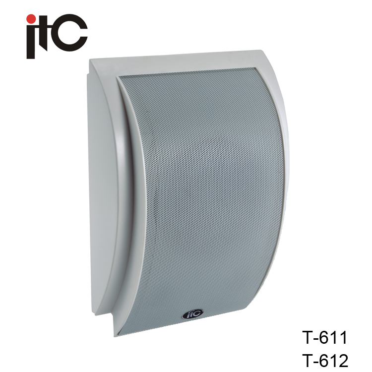 "ITC T-612 Favorable 10W 6"" and 2.5"" Two Way Wall Mount Speaker Sound"