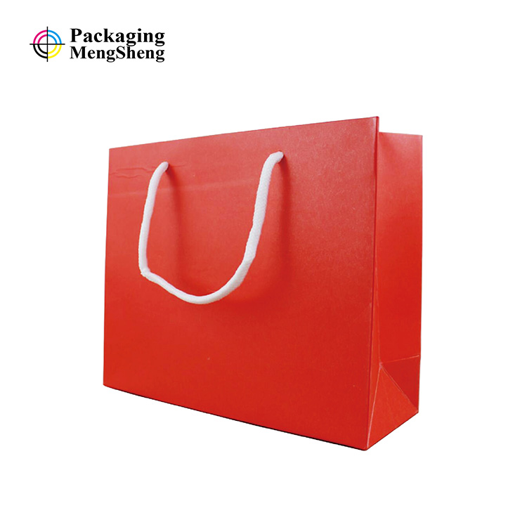 cheap price red kraft paper bag with handles buy kraft paper bag