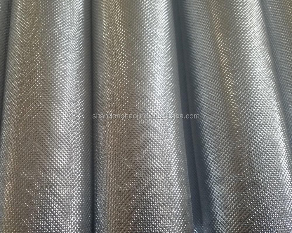 Silberweißes oder schwarzes Rautenmuster, geprägtes Mylar Lightite Reflective Grow Sheeting für Hydroponik