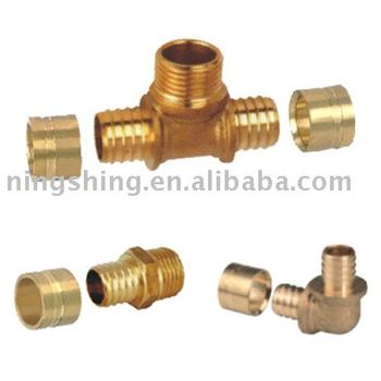 Brass pex pipe fittings buy pex fittings sliding for Plastic water pipe pex