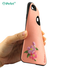3D Paste Leather Embroidery Animal Phone Case For iPhone X Art Vintage Handmade Elegant TPU+PC Back Cover For iPhone X