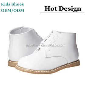 Baby Deer Leather Hi-Top Infant Sweet and Modern Baby Toddler Shoes