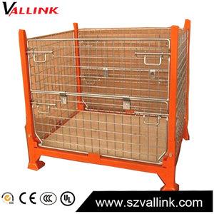 High Quality Folding steel Medium Duty Wire Container pallet iron cage
