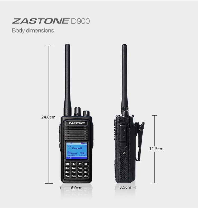 Compatible with MOTOTRBO/HYTRA new launch DMR digital handheld radio ZASTONE D900 UHF400-480MHz DMR digial 2- way radio