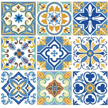 Vinyl Tile Stickers Traditional Floor