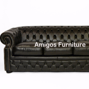 Oskar Chesterfield Black Top Graded Real Leather Sofa 3 Seater - Buy Oskar  Chesterfield Black Top Graded Real Leather Sofa 3 Seater,Oskar Chesterfield  ...