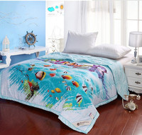 Cheap childrens 3d printed cartoon summer quilt,cot quilt sets for sale