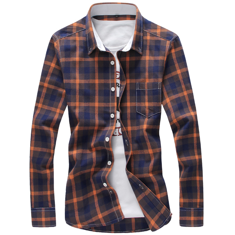 2017 spring autumn men shirts,men's fashion slim fit color ...