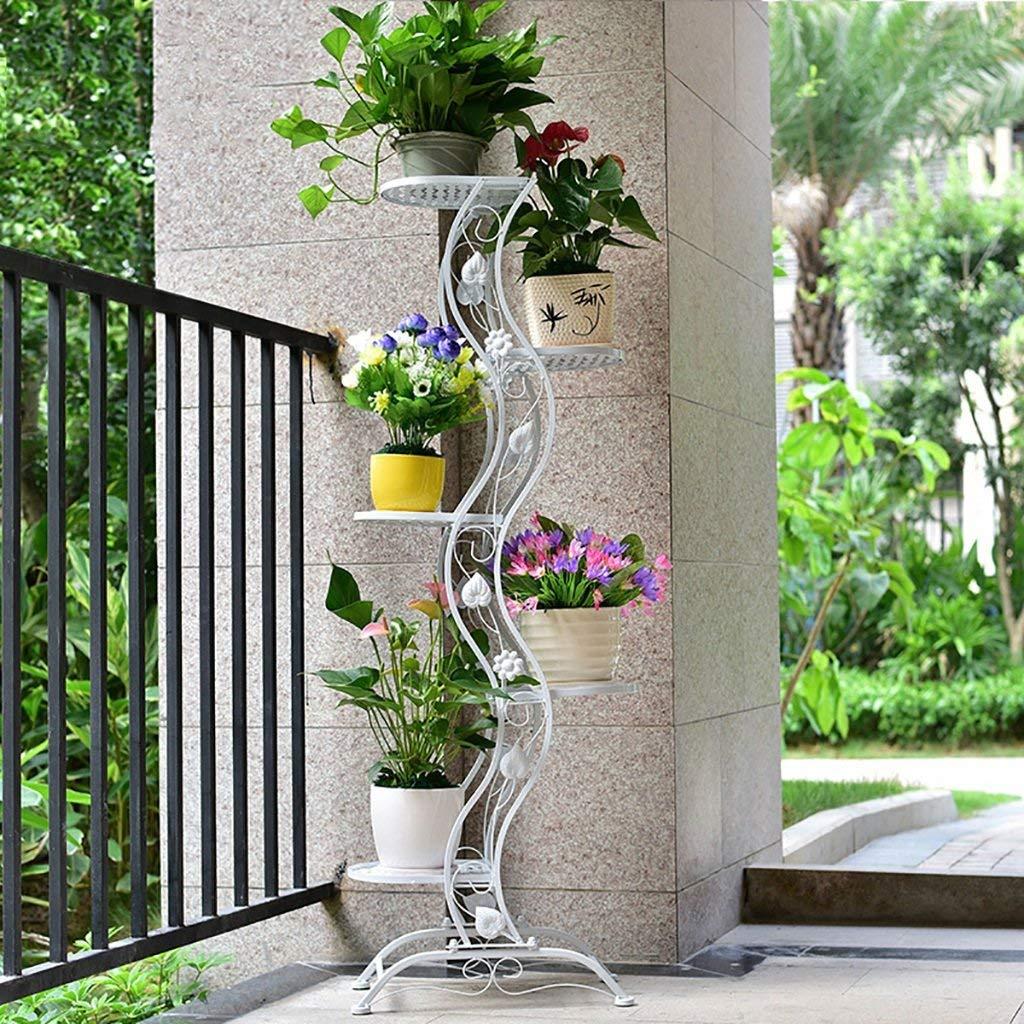 Get Quotations Flower Stand Iron Art Pot Stands White Planter Holder Indoor Outdoor Garden Plant Bonsai