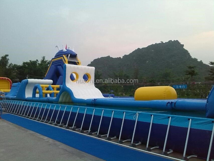 Giant Adults Inflatable Water Park Slides With Swimming Pool,Commercial Water Park For Sales