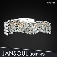 wide contemporary crystal wall sconce lamp