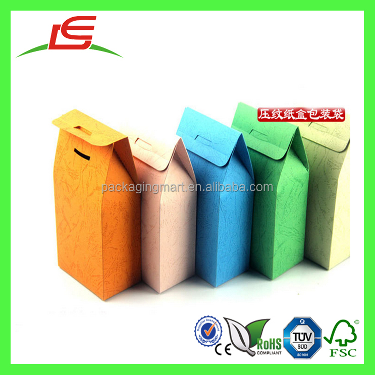 Q1208 China Wholesale Colorful Kraft Paper Bag Recyclable Gift Food Package Bag With Window