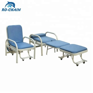 RC-H216 adjustable height convertible folding hospital accompanying recliner visitor waiting chair bed price for patients