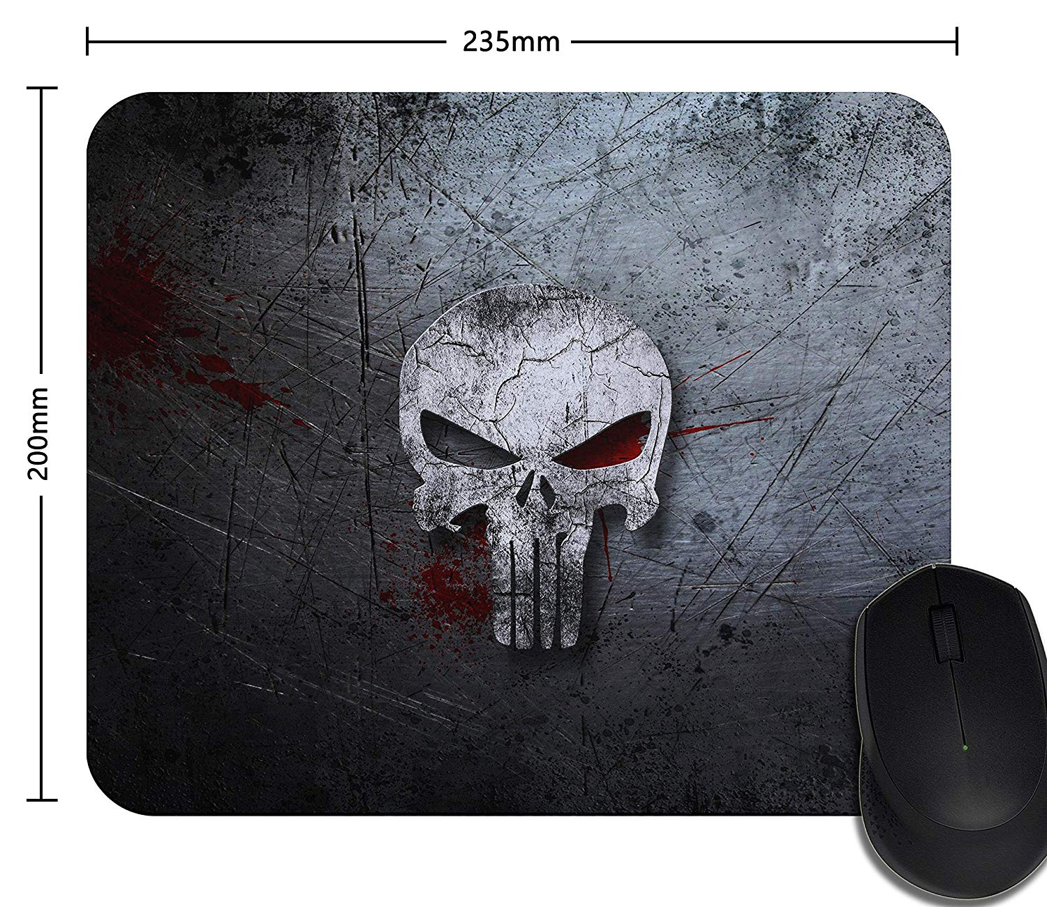 Mouse pad Death Skull Game Laptop Mouse pad Optical Non-Slip Mouse pad Office Competitive Mouse pad Professional Gaming Mouse pad - Non-Slip Rubber Base
