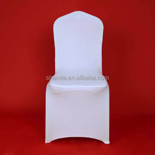 Hotel Lycra Stretch Party Spandex Chair Covers White Polyester Wedding ivory Chair Cover From China Factory