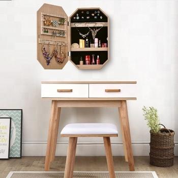 Wholesale Nordic Eco Friendly Bedroom Versatile Simple Modern Solid Wood Dressing Table With Storage Vanity Mirror Drawer Buy Makeup Table With