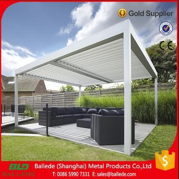heier verkauf outdoor moderne aluminium pergola mit verstellbare dach lamellen