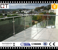 304 302 416 aisi stainless steel long useful life period fixed glass balustrade railing