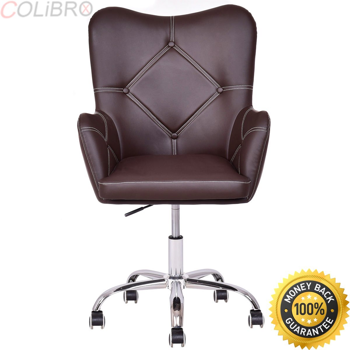 COLIBROX--Set of 2 Home Office Task Chair PU Leather Swivel Adjustable Tufted Back Rolling. desk chair walmart. desk chair target. cheap desk chairs. desk chair amazon.best office chairs office depot.