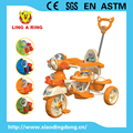 Old Cheap new Baby trike with music and lighting head children trike with shunshade Children tricycle with CE certificate