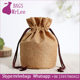 Custom jute sachet for gift drawstring jute wrap pouch