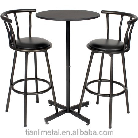 Black Pub Kitchen Furniture Bar Table Set With 2 Stools - Buy Bar Table  Set,Cheap Bar Table Sets,Bar Table Product on Alibaba.com