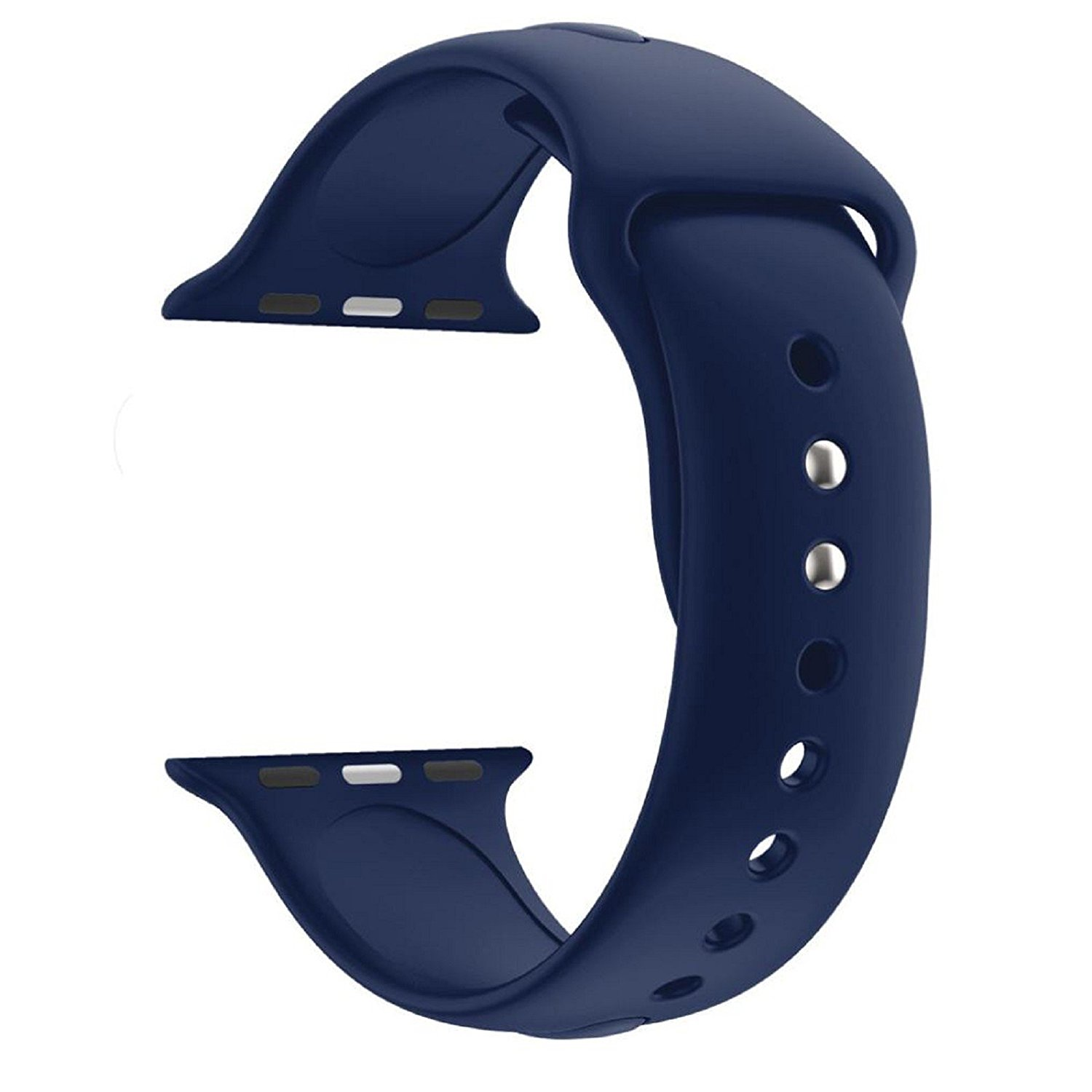Owill Fashion Sports Soft Silicone Replacement Sports Band Watch Strap For Apple Watch Series 3 42MM, Wrist Circumference: 140MM-185MM (Navy)
