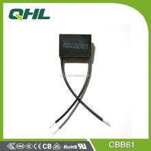 Professional manufacturing film capacitor AC motor capacitor CBB61 250V 4uf