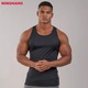 High Quality Gym singlet Polyester Sport Tank Top Sleeveless T shirt Mens