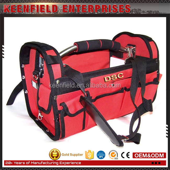 Custom Made Mechanic And Electrician Polyester Durable Steel Handle Tool Bags